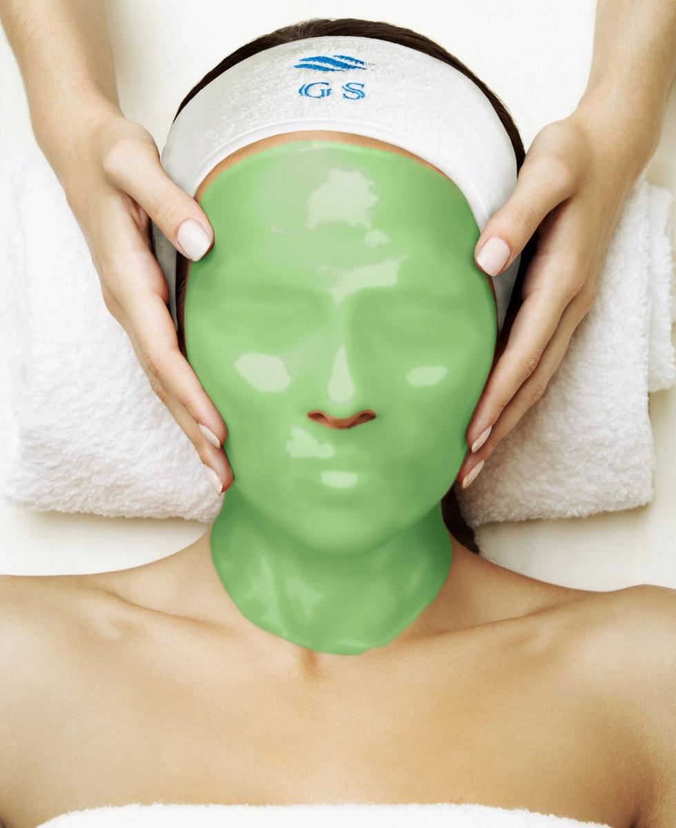 Альгинатная маска с хлорофиллом