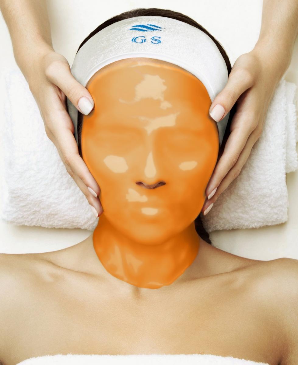 Альгинатная маска с экстрактом абрикоса, ретинолом и фолиевой кислотой