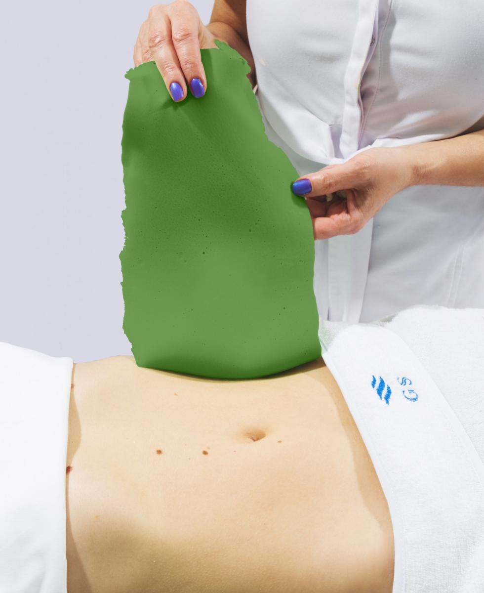 Альгинатная маска с экстрактом зеленого чая и ламинарией